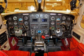 Cockpiten i PA31 Navajo