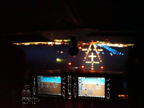 Night VFR, RWY 28