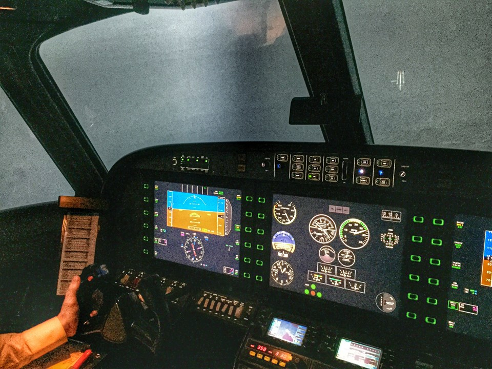 Night approach in the simulator at UTSA